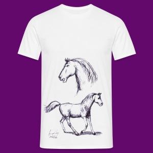 cheval de course - T-shirt Homme
