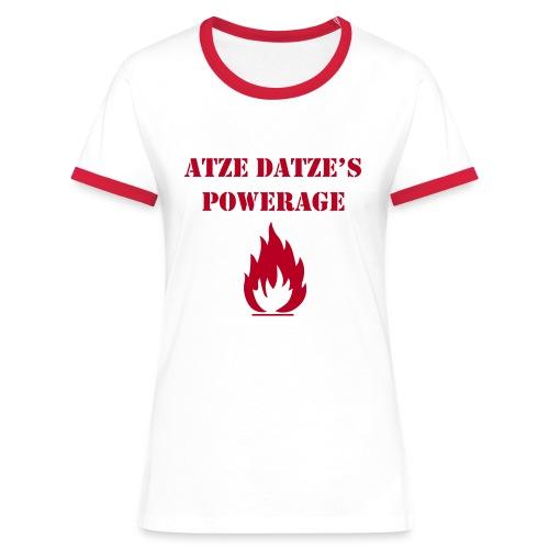 Frauen Kontrast-T-Shirt - Super T-Shirt mit Flock-Qualitätsdruck