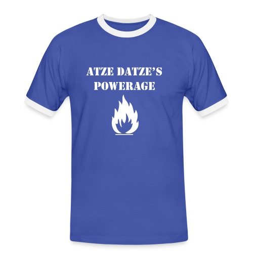 Männer Kontrast-T-Shirt - Super T-Shirt mit Flock-Qualitätsdruck