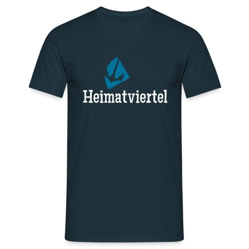 Heimatviertel Männershirt Navy - Männer T-Shirt