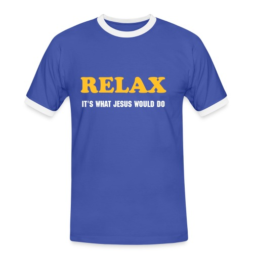 RELAX it's what Jesus would do - Mannen contrastshirt