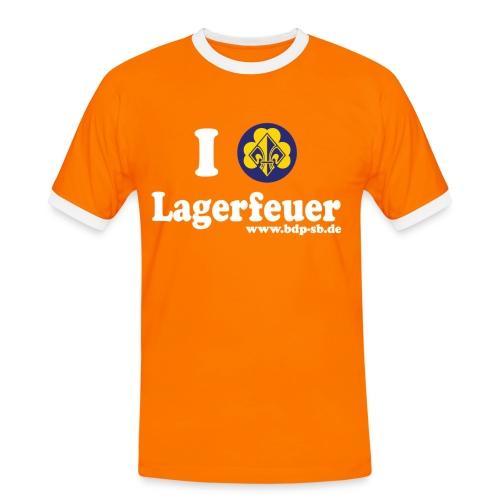 I love Lagerfeuer - Männer Kontrast-T-Shirt