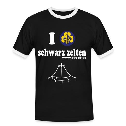 I love schwarz zelten - Männer Kontrast-T-Shirt