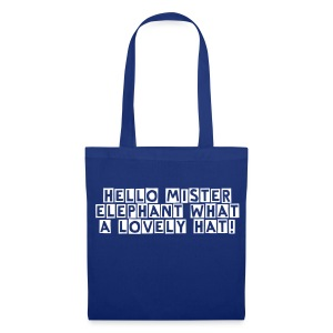 Mister Elephant (just text) - Tote Bag