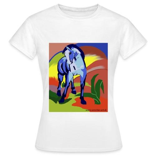 Blaues Pferd nach Franz Marc - Frauen T-Shirt
