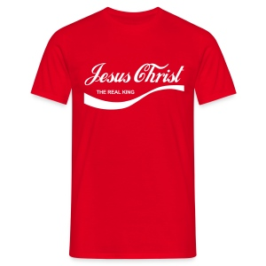 Jesus Christ The Real King - Classic Red Mens - Men's T-Shirt