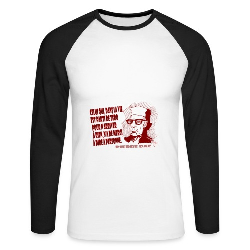 no merci - T-shirt baseball manches longues Homme