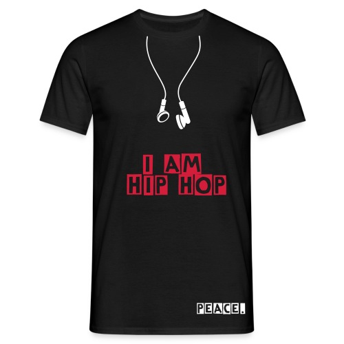 I AM HIP HOP - Peace.- white&red - T-shirt Homme
