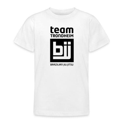 Team Trondheim BJJ - T-skjorte (hvit) for barn med logo foran - T-skjorte for tenåringer