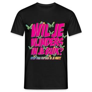 Wil je vlinders in je buik? Funny T-shirt - Mannen T-shirt