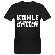 T-Shirts ~ Männer Bio-T-Shirt ~ Öko-Grillmeister Kohle