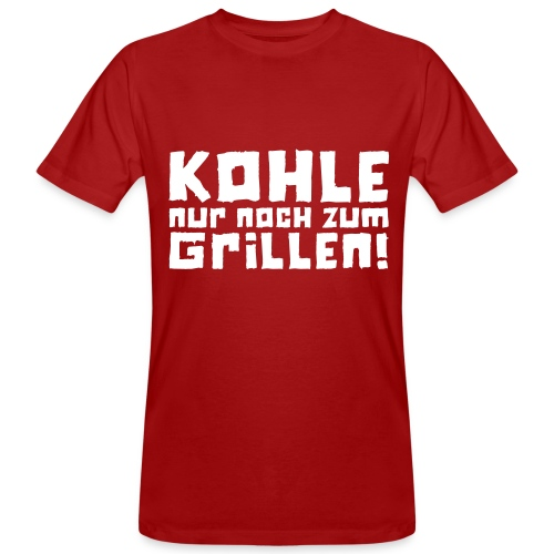 Öko-Grillmeister Feuer - Männer Bio-T-Shirt