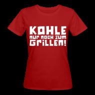 T-Shirts ~ Frauen Bio-T-Shirt ~ Öko-Grillmeisterin Feuer
