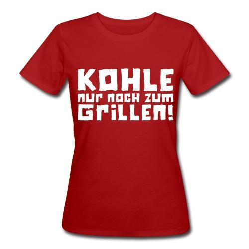 Öko-Grillmeisterin Feuer - Frauen Bio-T-Shirt