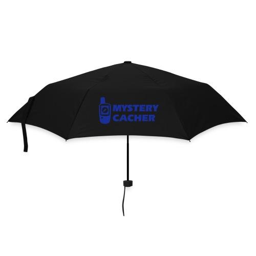 Geocaching GPS Mystery Cacher - Flockdruck Königsblau - Regenschirm (klein)