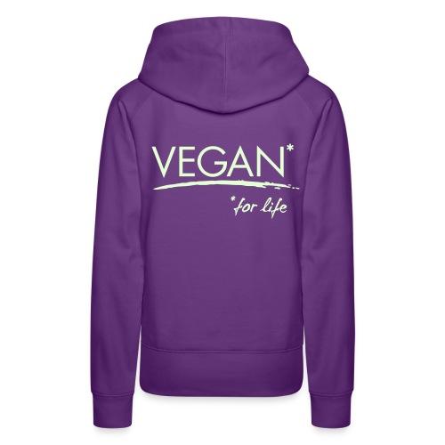 Womens - VEGAN* for life - Frauen Premium Hoodie