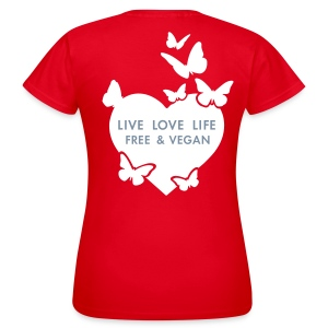 Womens - LIVE LOVE LIFE FREE & VEGAN - Frauen T-Shirt