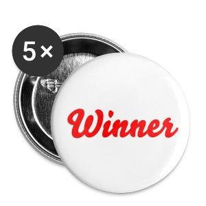 Kleine buttons Winner - Buttons klein 25 mm