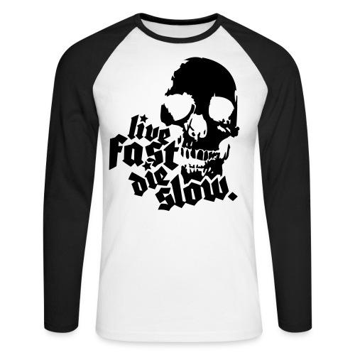 Live Fast Die Slow - Langermet baseball-skjorte for menn