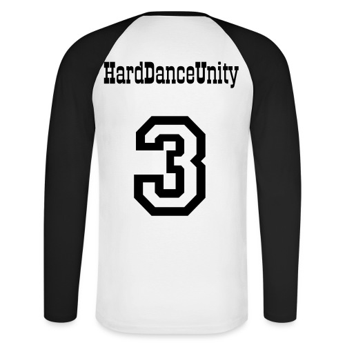 HardDanceUnityUK Team Player - Men's Long Sleeve Baseball T-Shirt