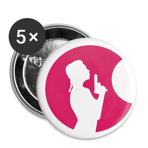 Scharfer Schuss - Buttons mittel 32 mm