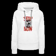 Pullover & Hoodies ~ Frauen Premium Kapuzenpullover ~ Mann Baseballshirt Stop Haiti Slave Kids now © by kally ART®