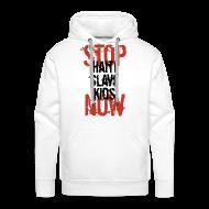 Pullover & Hoodies ~ Männer Premium Kapuzenpullover ~ Mann Baseballshirt Stop Haiti Slave Kids now © by kally ART®