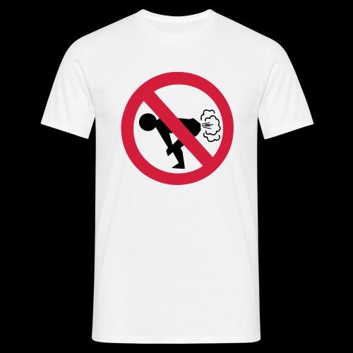 furzen verboten - Männer T-Shirt
