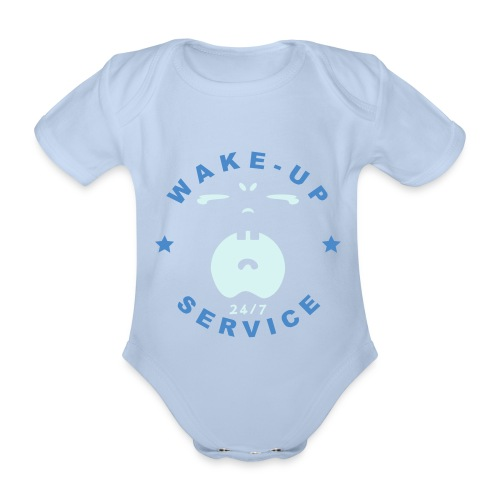 WAKE UP SERVICE - Organic Short-sleeved Baby Bodysuit