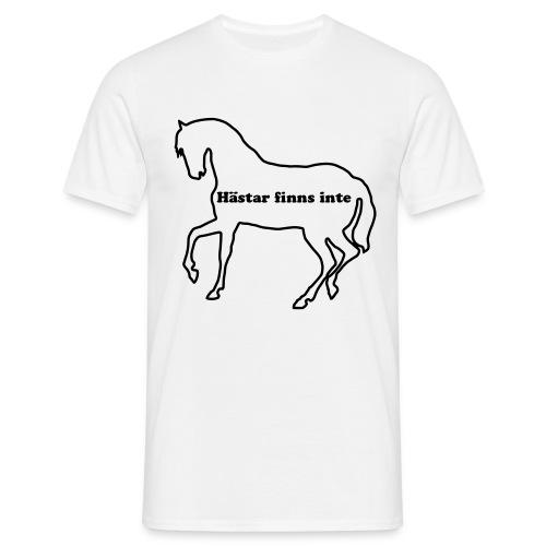 Hästar finns inte - man - T-shirt herr