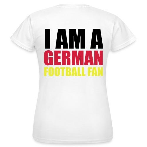 Deutscher Fußball Fan - Frauen T-Shirt