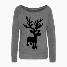 cute moose caribou reindeer deer christmas norway rudolph rudolf winter scandinavia canada Hoodies & Sweatshirts