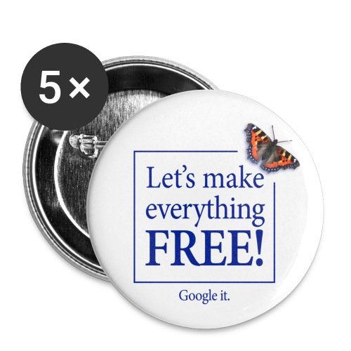 letsmakeeverythingfreetshirtfront - Buttons medium 32 mm