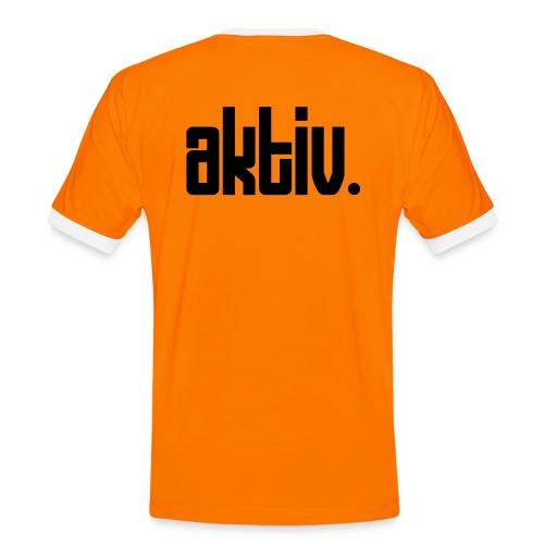AKTIV Back - Männer Kontrast-T-Shirt