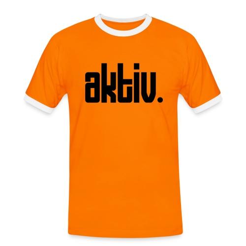 AKTIV Front - Männer Kontrast-T-Shirt