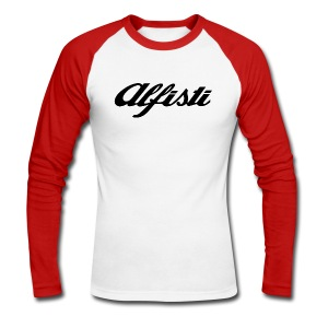 Alfisti (Big Logo) Raglan Rosso Longsleeve - Men's Long Sleeve Baseball T-Shirt