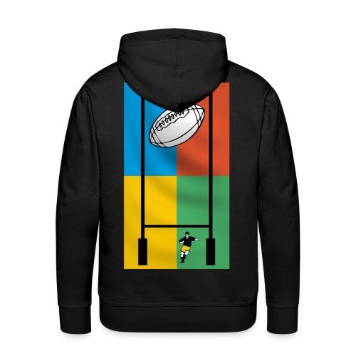 sweatshirt sport rugby design - Sweat-shirt à capuche Premium pour hommes
