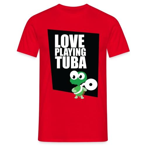 Tuba Turtle - Mannen T-shirt