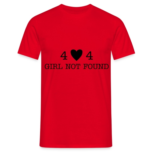 404 homme rouge - T-shirt Homme