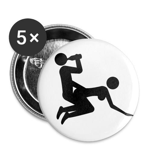 fucking - Buttons klein 25 mm (5er Pack)