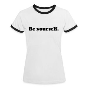 Be yourself - T-shirt contrasté Femme