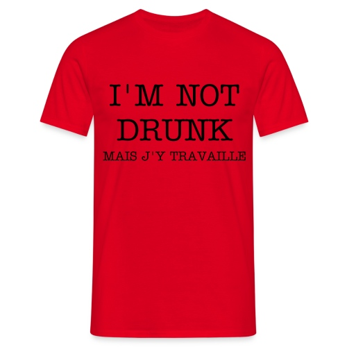 DRUNK HOMME ROUGE - T-shirt Homme