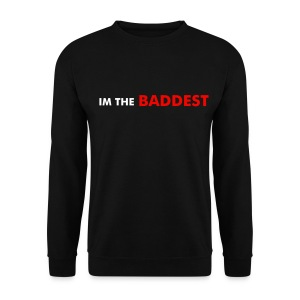 SWEET-WEAR mens Im The Baddest sweater black - Men's Sweatshirt