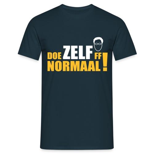 Doe ZELF ff normaal! - men's - NAVY - Mannen T-shirt