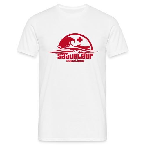 sauveteur aquatique rouge - T-shirt Homme