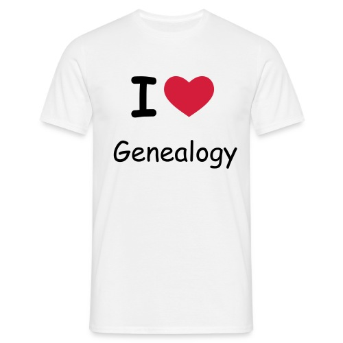 I Love Genealogy - Men's T-Shirt