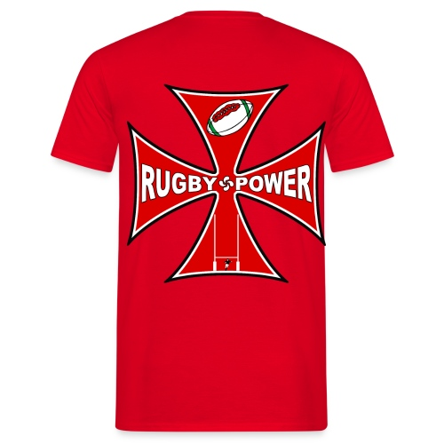 t-shirt rugby design - T-shirt Homme