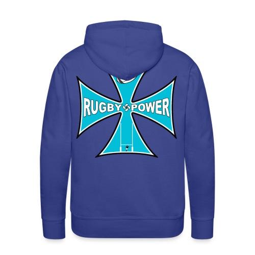 t-shirt rugby design - Sweat-shirt à capuche Premium pour hommes