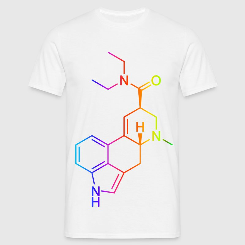 LSD Molecule Colored T-Shirts - Men's T-Shirt