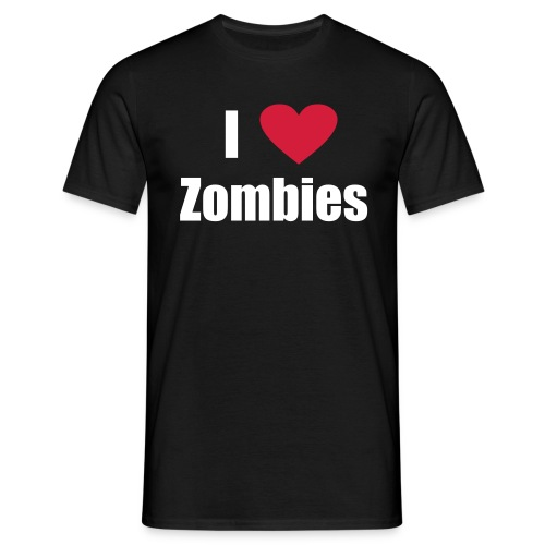 I love Zombies - Männer T-Shirt
